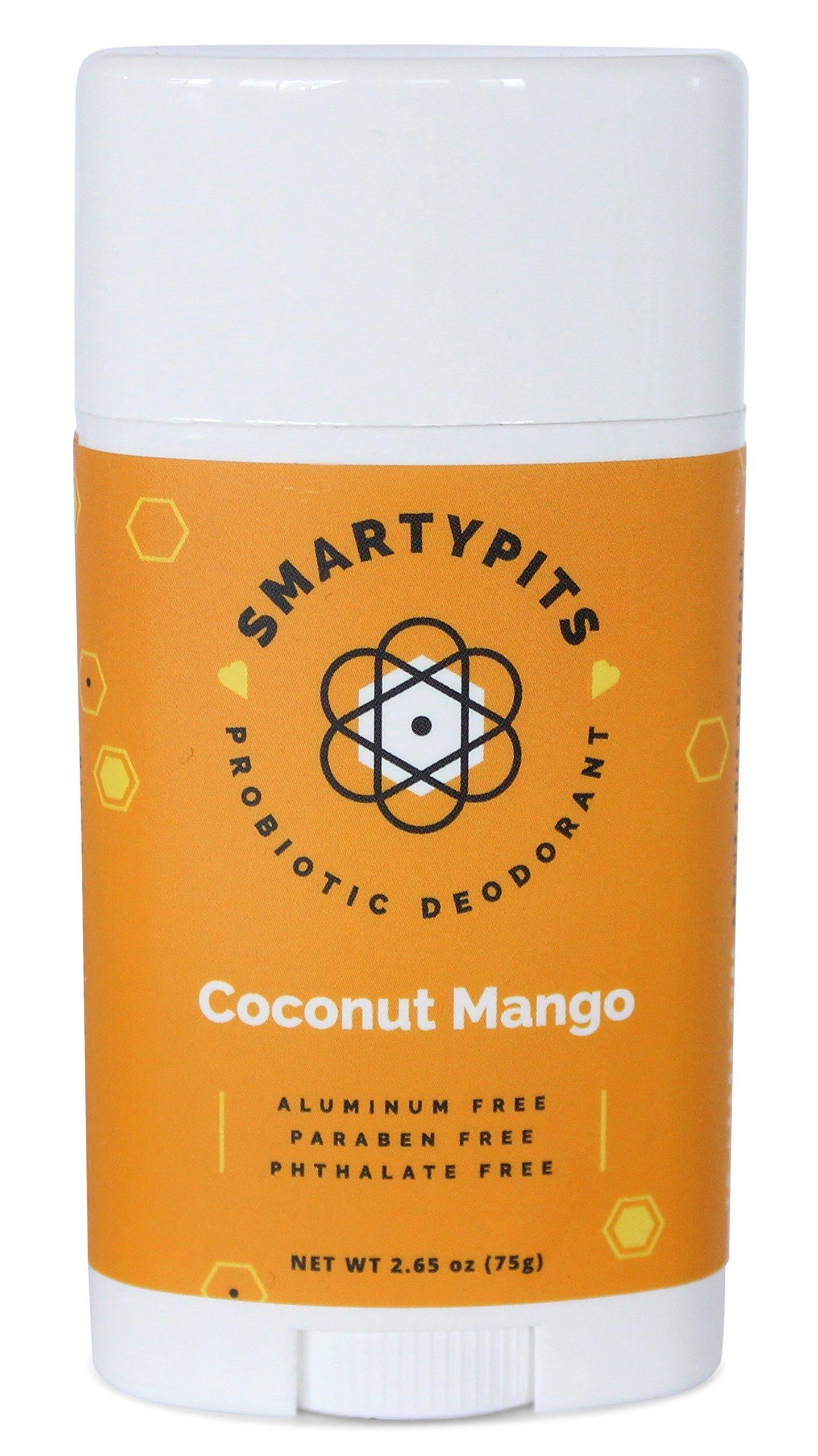SmartyPits - Natural/Aluminum Free Prebiotic Deodorant (Coconut Mango) (Full-Size)