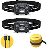 Everbeam H6 Pro LED Rechargeable Headlamp, Motion Sensor Control, 650 Lumen Bright 30 Hours Runtime 1200mAh Battery USB…