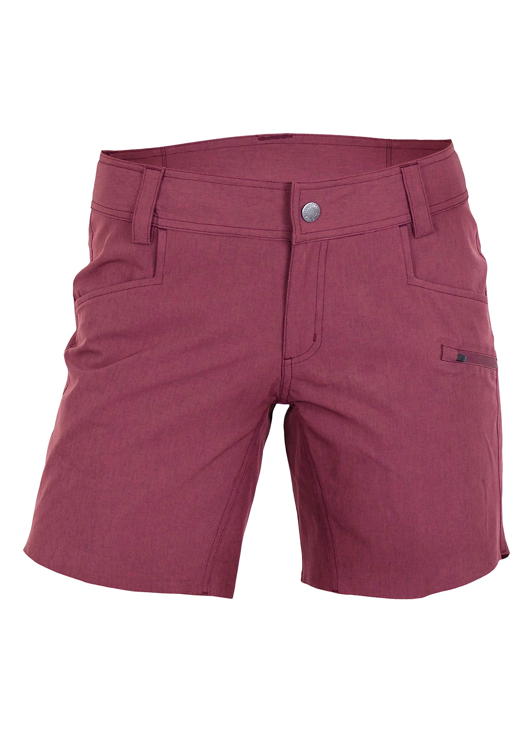 Club Ride Apparel Eden Cycling Short - Women's Biking Shorts with Removable Chamois Liner - Merlot - XS by Club Ride