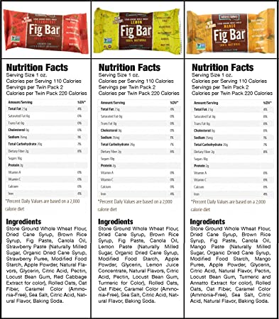 Nature's Bakery Fig Bars Healthy Snacks (Count 12) Variety Pack with  Figs,