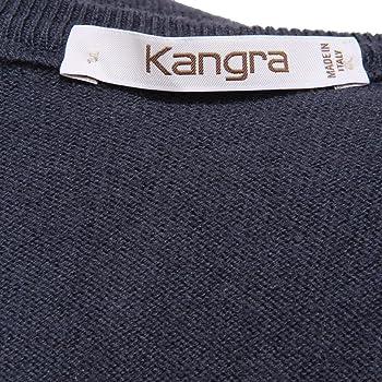 Kangra 3836AB Maglione uomo v-Neck Wool Blue Sweater Men [46 ...