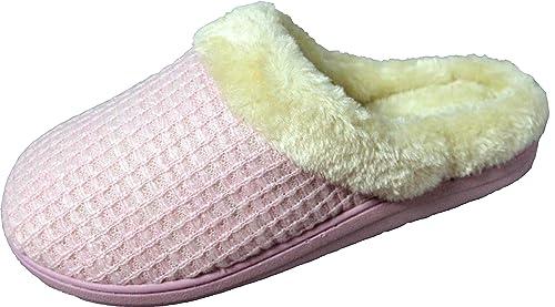 LUXEHOME Slip-On De La Mujer Cozy Knit & Pelusas casa Calzado/Zapatillas de