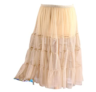13fda0cfc23ac5 Charleselie94® - Jupe Grande Taille Tulle Volants Beige Taupe LOUANE ...
