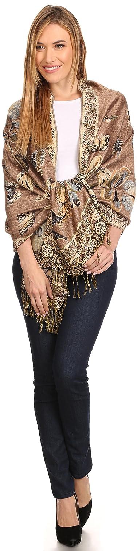 Sakkas Liua lungo ampio tessuto modellato design Multicolore Pashmina Scialle//sciarpa