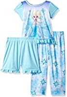Disney Girls' Frozen 3-Piece Pajama Set