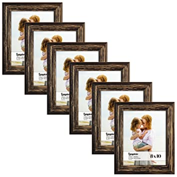 Amazoncom Langdons 8x10 Real Wood Picture Frames 6 Pack