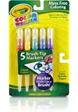 Crayola Classic Color Wonder Brush Tip Markers, (1 Pack, 5 Markers)