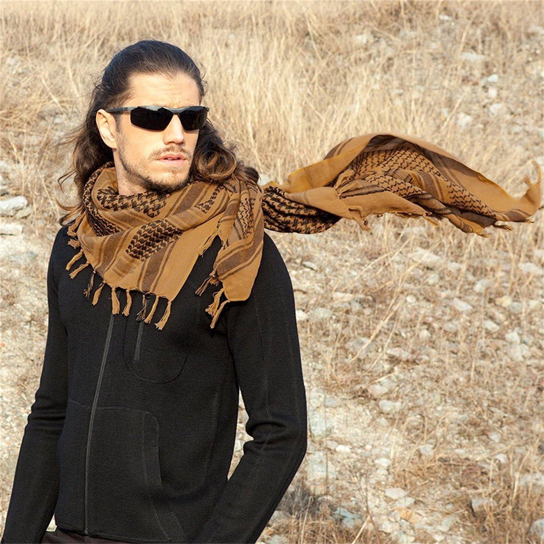 ZGJ Affe Arm/ée Militaire Tactique Arabe /Écharpe Shemagh T/ête /Écharpe Couverture de Cou Wrap pour Hommes Femmes Coupe-Vent Plus Chaud