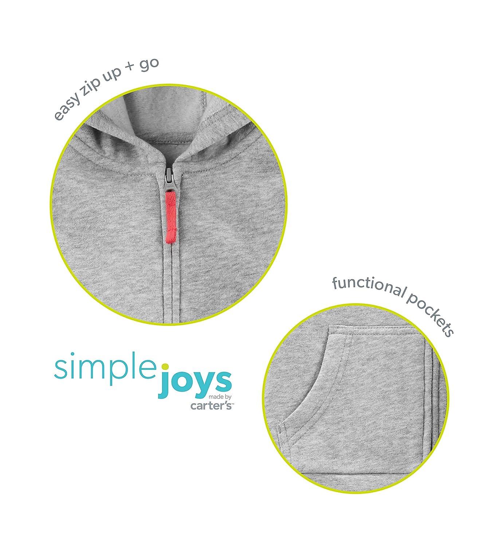 Simple Joys by Carters Toddler Girls 2-Pack Fleece Full Zip Hoodies