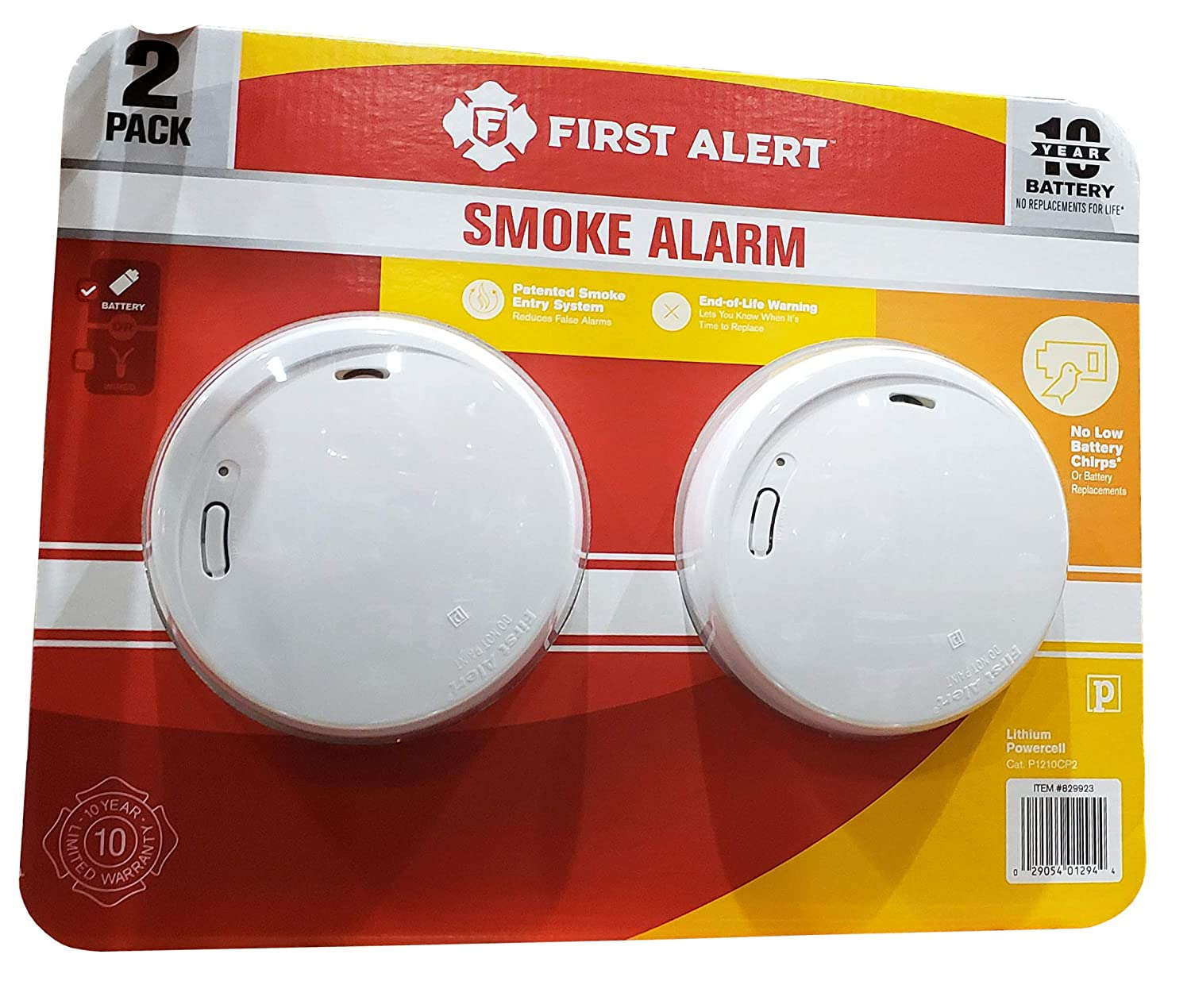 First Alert 10 Year Photoelectric Smoke Alarm 2 Pack Amazon Com Grocery Gourmet Food