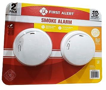 Primera alerta alarma de humo y fuego diseño delgado 2 Pack de 10 años larga duración batería sellada: Amazon.es: Bricolaje y herramientas