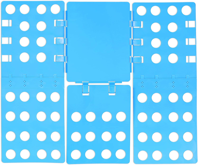 Relaxdays 2X W/äschefalter 3 klappbar Hemden blau Generation Flip flexibel Faltbrett f/ür Shirts B x T: 68 x 57 cm Fold