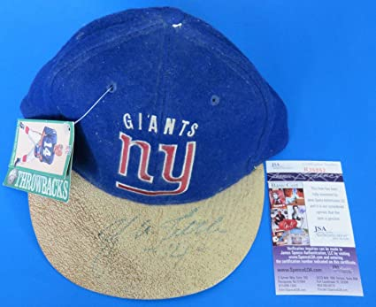 YA TITTLE SIGNED NY GIANTS FOOTBALL CAP HAT ~ R36861 ~ Light Autograph ~ - 5935bfdd4c6