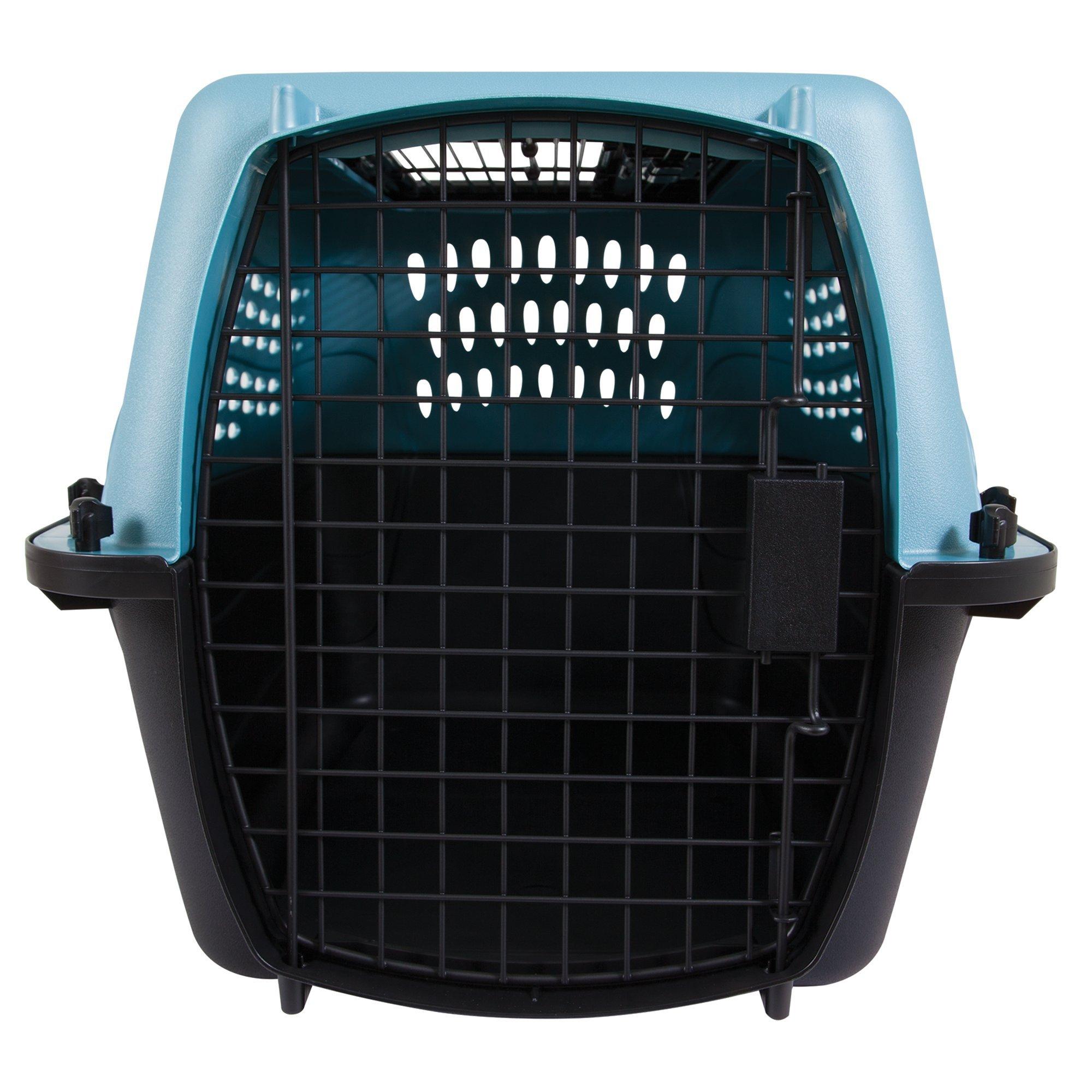 Petmate 2-Door Top Load Kennel, Blue, 24'' L X 16.8'' W X 14.5'' H, X-Small