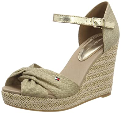 2f4191ea3799 Tommy Hilfiger Women s Iconic Elena Metallic Canvas Espadrilles ...