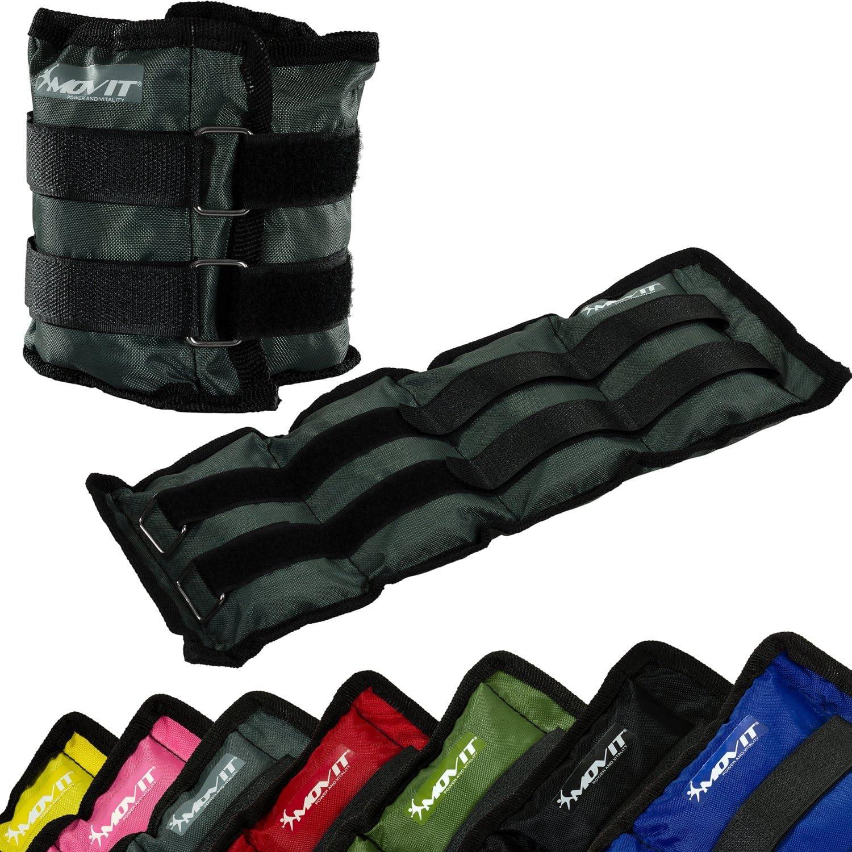 Peso del Brazo Ejecuci/ón de Pesas en 7 Colores//Pesas Diferentes Movit/® Twin Set de Pesas para mu/ñeca//Tobillo Pesas de 0.5kg a 4.0kg