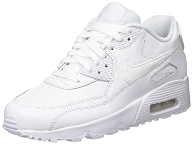 reputable site adfa2 cc366 Nike Air Max 90 Leather, Baskets garçon, Blanc White, 38 EU
