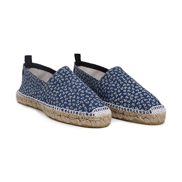 4426fe6ef Alice + Whittles Blue Anchors Espadrilles Made in France: Amazon.ca: Shoes  & Handbags