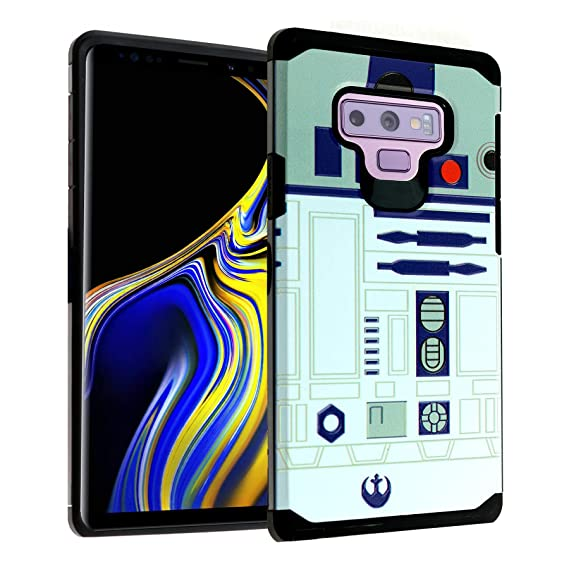 more photos 16ff3 6b7cd Star Wars R2D2 Galaxy Note 9 Case, DURARMOR Dual Layer Hybrid Shockproof  Slim Fit Armor Case Cover for Galaxy Note 9 (2018) R2D2