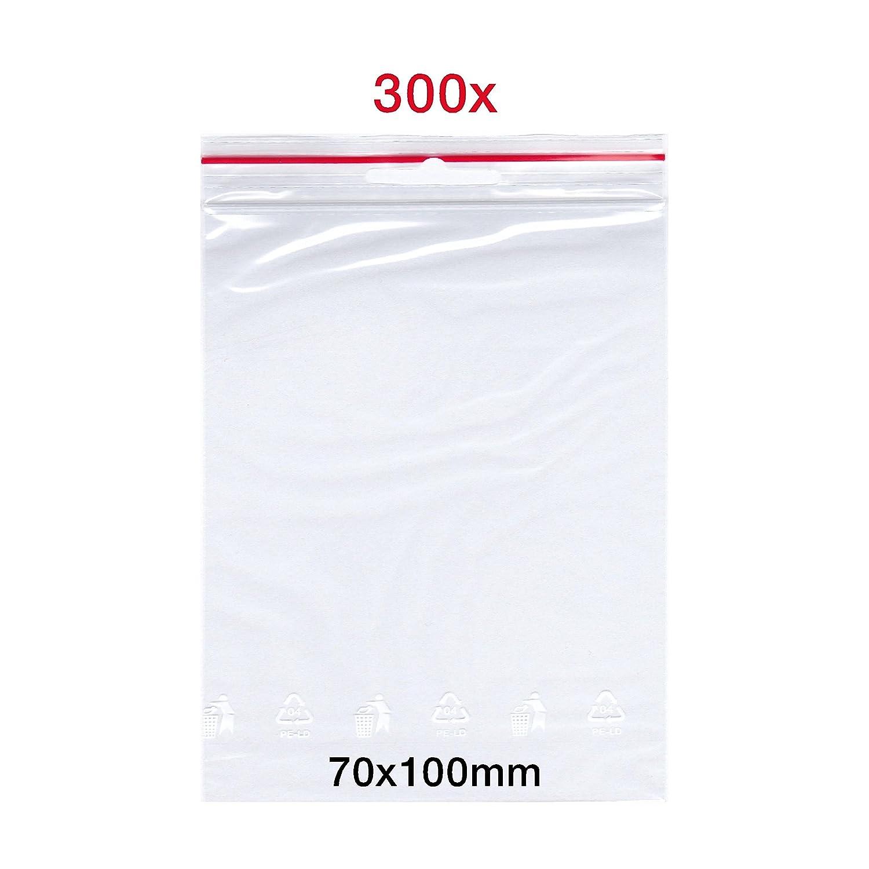 300 x Bolsas con cierre a presió n | 70 x 100 mm | Bolsa de bolsa | FolderSys Zip | bolsas de cierre rá pido, Zip Cierre Bolsa | Bolsa | fabricado en Alemania | de Smart packtm Germany