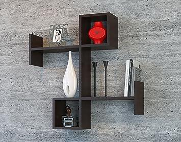 burc mensola da muro - mensola parete - mensola libreria ... - Pensile Soggiorno Wenge