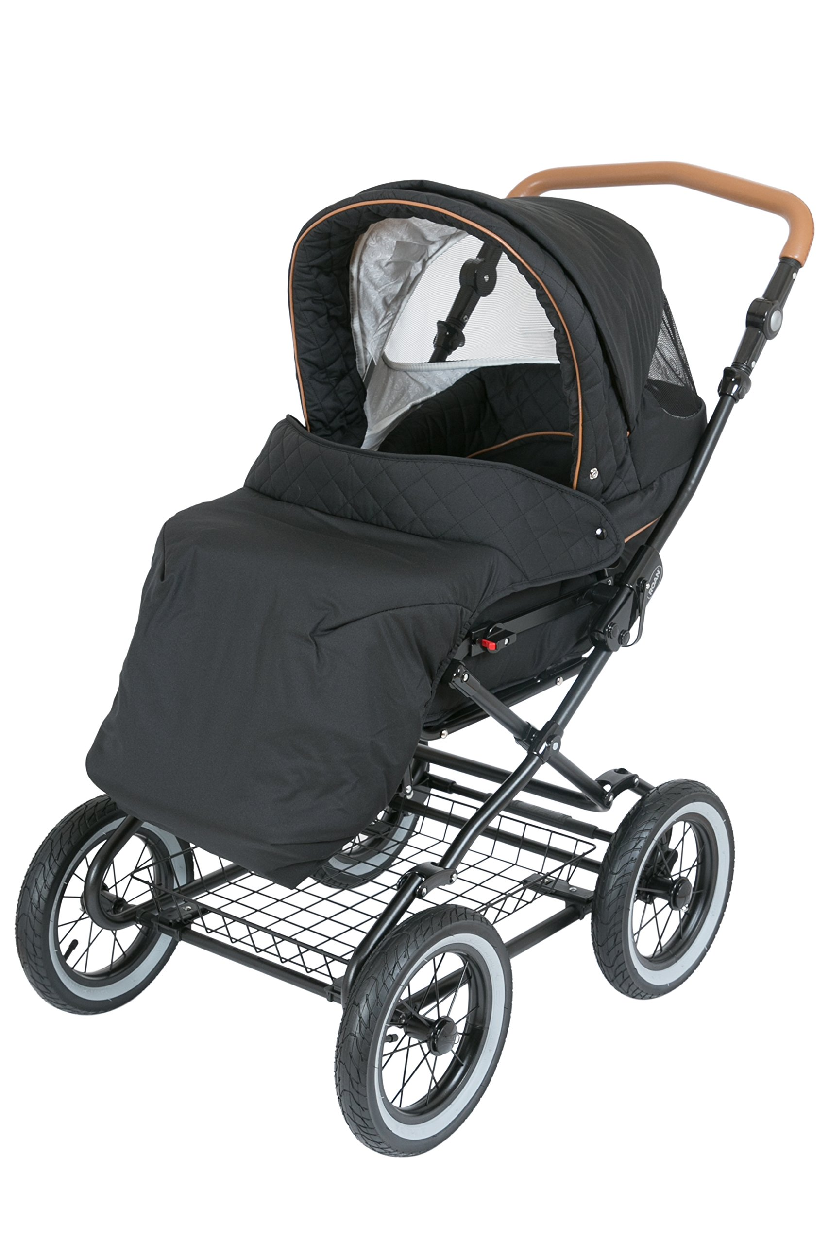 Luxury Roan Kortina 2-in-1 Pram Stroller Pushchair with Big Baby Bassinet and Toddler Reclining Seat with Five Point Safety System UV Proof Canopy and Storage Basket for child up to 3 year (graphite) by ROAN (Image #7)