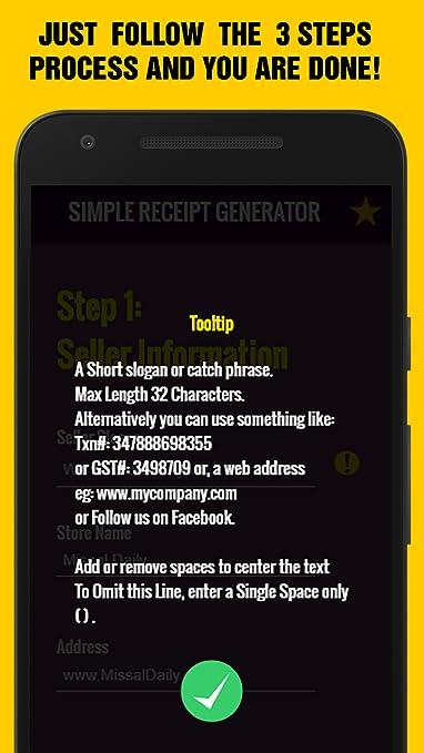 Amazon com: Easy Receipts Generator, Receipt & Invoice Maker