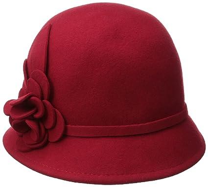 Nine West Women s Felt Cloche Hat with Self Flower 5cf098350ac