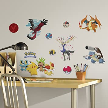 RoomMates RMK2625SCS XY Pokemon Peel And Stick Wall Decals Nice Look