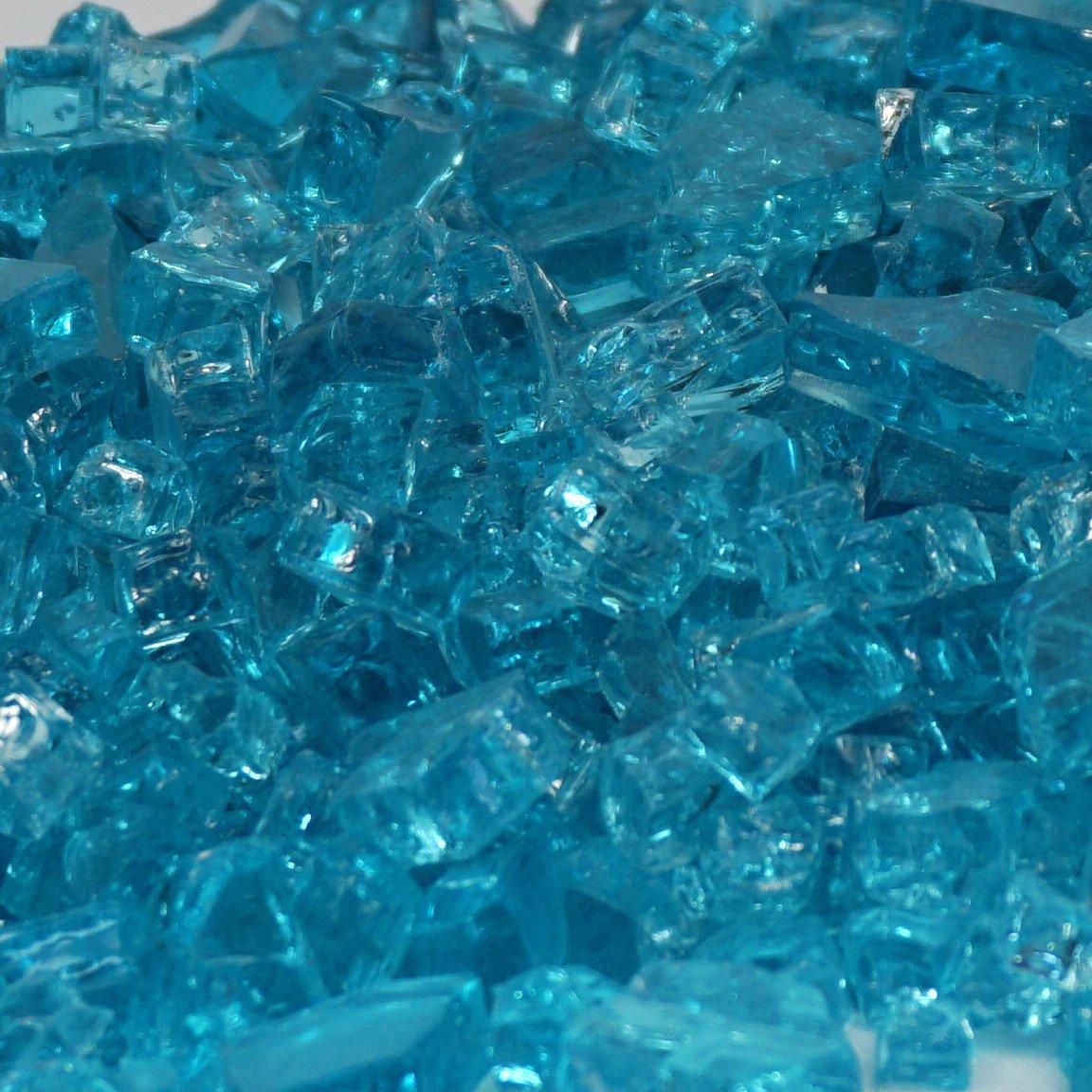 1/4'' Caribbean Blue / Azuria Fireglass 10 Pound Bag by Fire On Glass