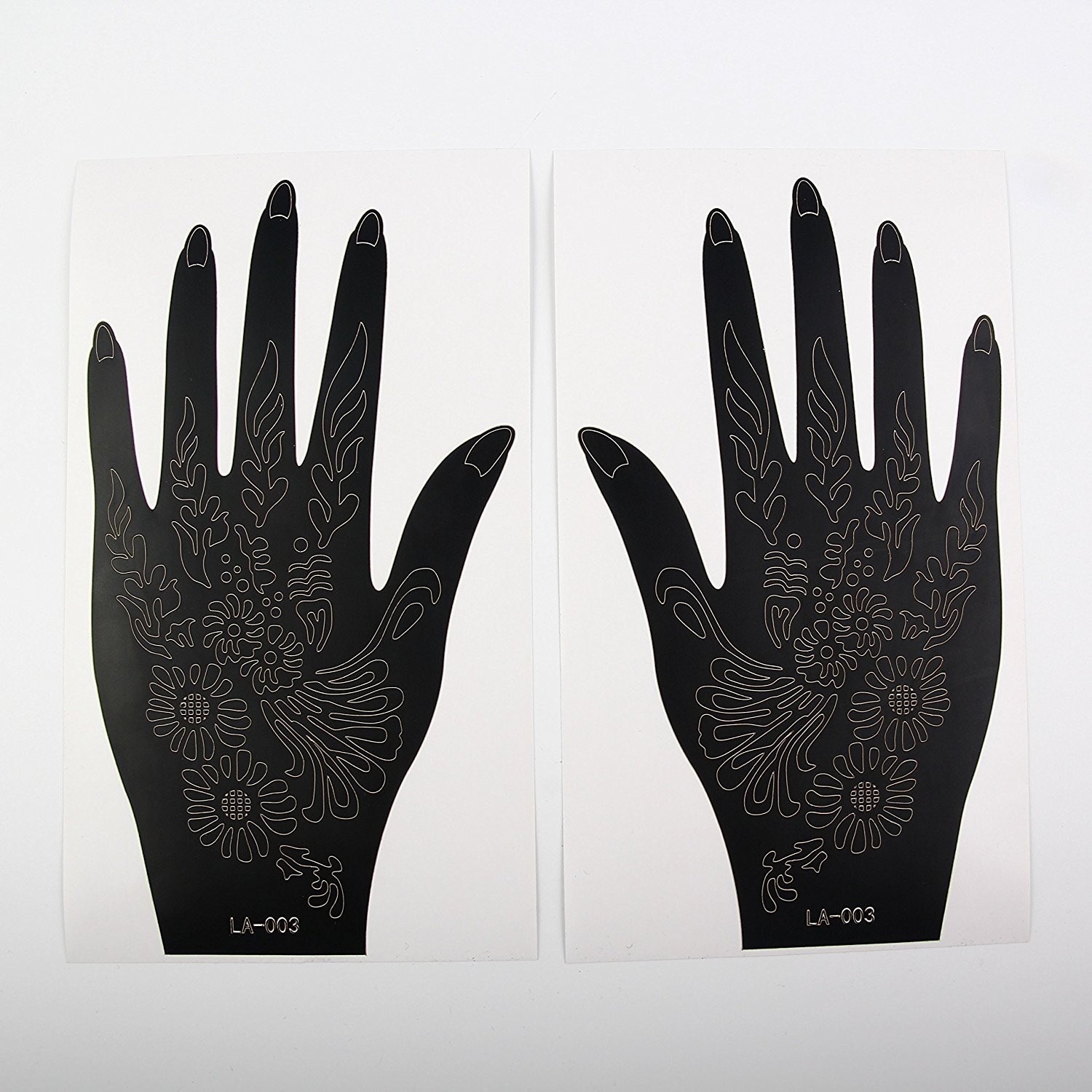 Tattoo Stencils. New amazing neat risk free self-applicable and effortless tattoos for hands and body. Use it with henna or color spray. Returnable upon dissatisfaction! PROMOTIONAL PRICE! (LA-003)