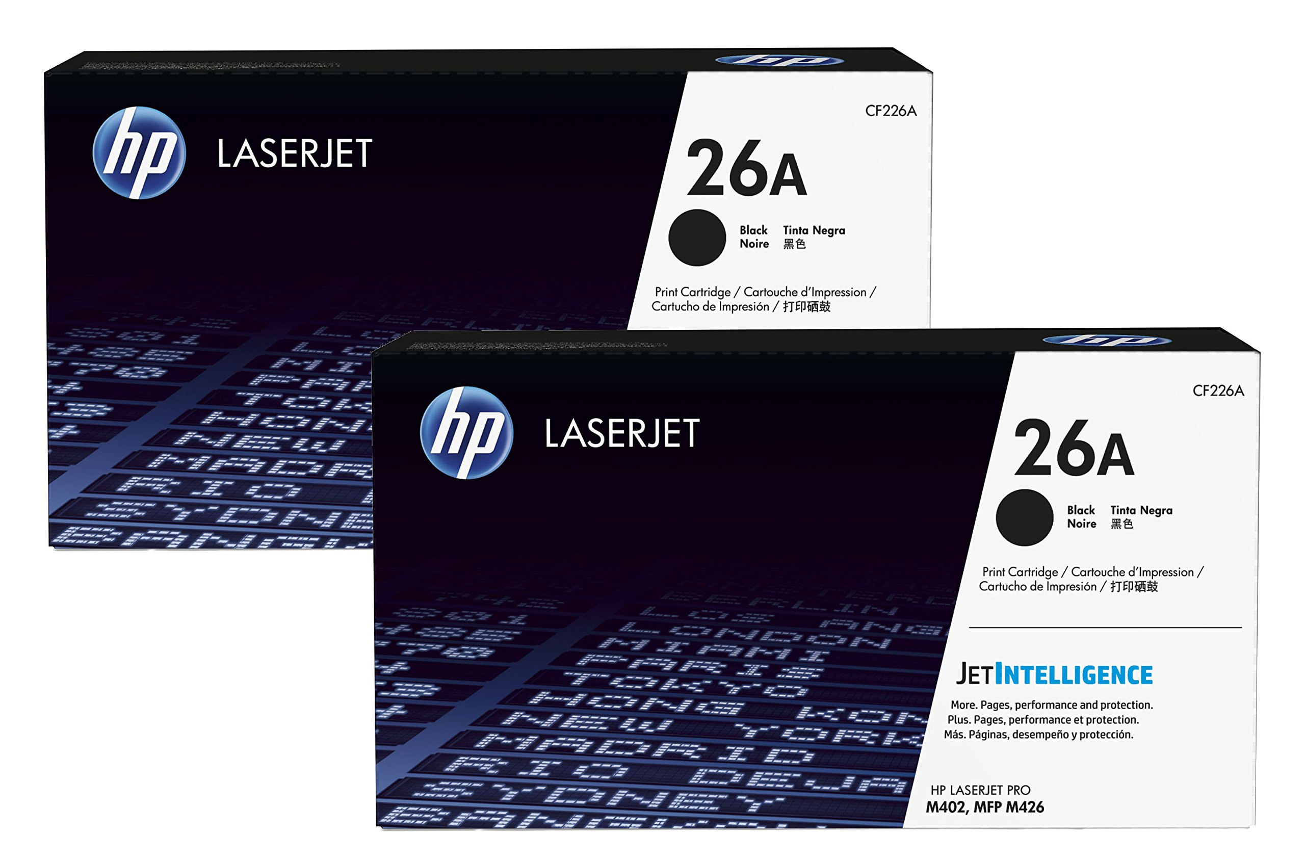 HP 26A (CF226A) Black Original LaserJet Toner Cartridge 2-Pack by HP