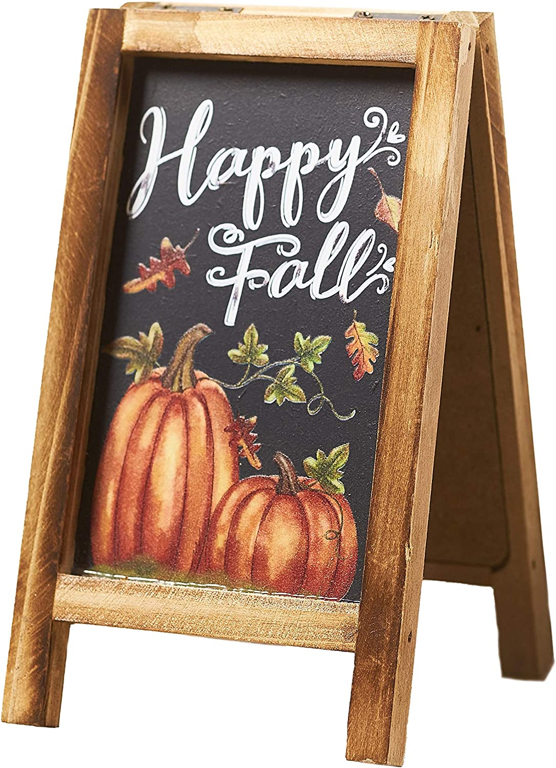 The Lakeside Collection Decorative Fall/Winter Mini Easel with Double-Sided Christmas, Autumn Messages