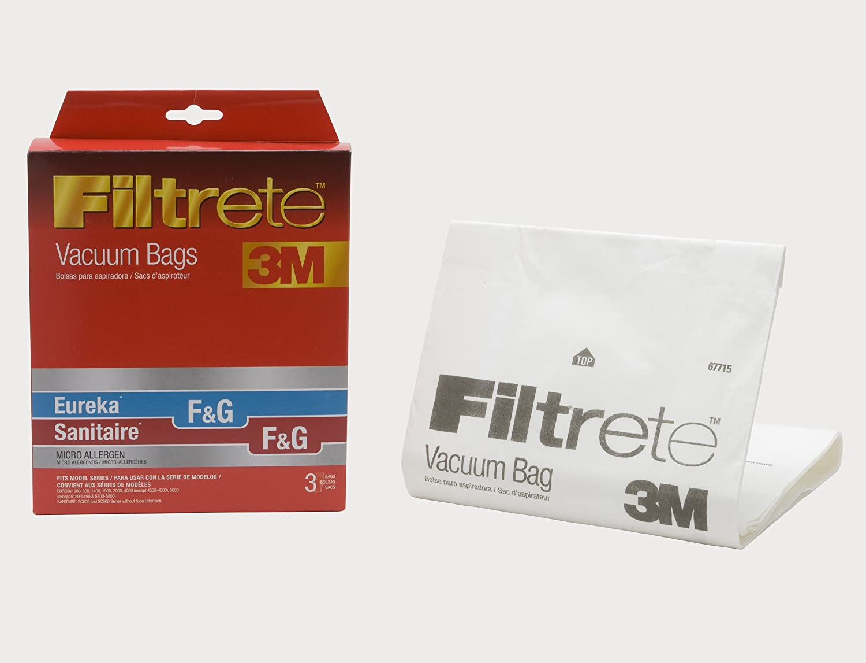 3M Filtrete Eureka/Sanitaire/Kenmore/Singer F&G / 5002 & 5062 / SUB-1 Micro Allergen Vacuum Bag, Red