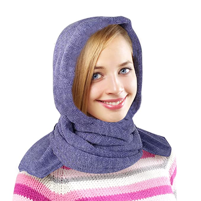 6226cd17be2 35 Below Marled Hooded Scarf - Head Scarf Winter Scarf - Black at Amazon  Women s Clothing store