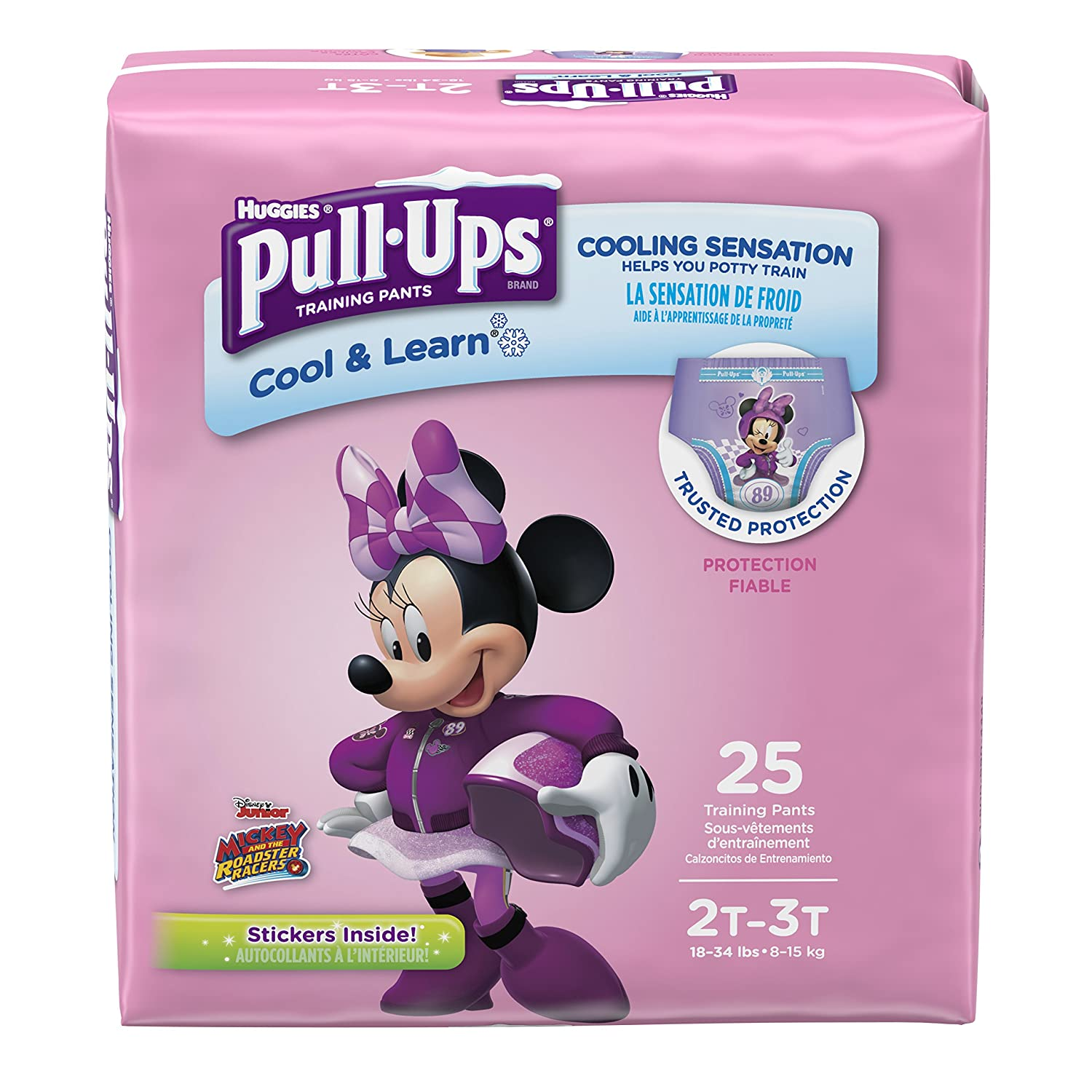 Pull-Ups Cool /& Learn Training Pants for Girls 25 Count 18-34 lb. 2T-3T