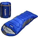 0 Degree Winter Sleeping Bags for Adults Camping (350GSM) - Temp Range (5F–32F) Portable Waterproof Compression Sack…