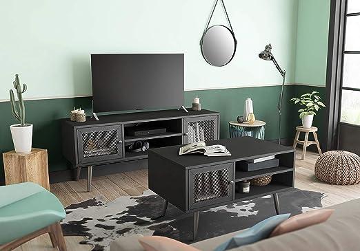 Miroytengo Conjunto Muebles Salon Comedor Estilo Industrial Color ...