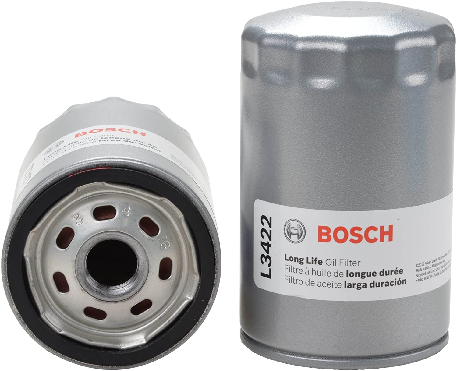 Amazon.com: Bosch l3422 larga vida Filtro de aceite: Automotive
