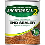 ANCHORSEAL 2 Hybrid Log & Lumber end Grain Sealer - Water-Based Wax & Polymer Prevents up to 90% of end Checking (Drying Spli