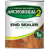 ANCHORSEAL 2 Hybrid Log & Lumber end Grain Sealer - Water-Based Wax & Polymer Prevents up to 90% of end Checking (Drying…