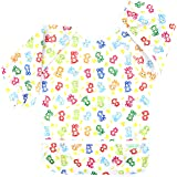 Wegreeco Baby Long Sleeve Bib, Toddler Children's Waterproof Baby bib with Sleeves (Lovely Monkey),Washable/Lightweight/Stain and Odor Resistant (6-24 Months) Baby bib Shirt with Pocket