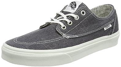 Vans Unisex Brigata (Washed) Asphalt/Stiped Skate Shoe 7.5 Men US/9