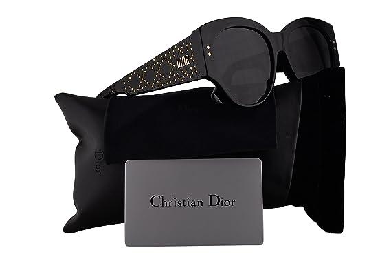 ccbd2735318 Christian Dior LadyDiorStuds2 Sunglasses Black w Grey Lens 55mm 8072K  LadyDiorStuds2 S Ladydiorstuds2 Lady Dior Studs 2 LadyDiorStuds 2   Amazon.co.uk  ...