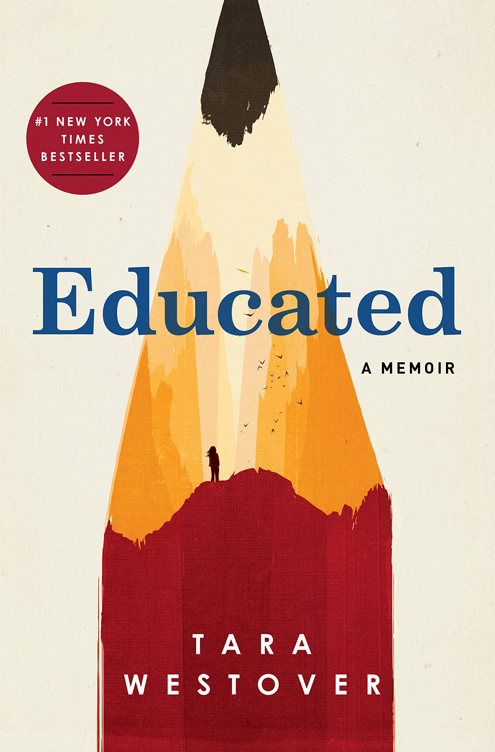 Cover art for the book entitled Educated: A Memoir