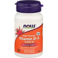 NOW Vitamin D-3, Structural Support 2000 I.U., 240 Softgels