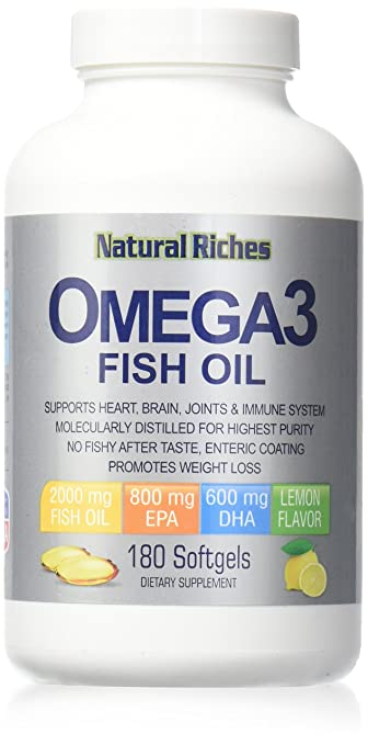 Product thumbnail for Natural Riches Omega 3 Fish Oil Supplement