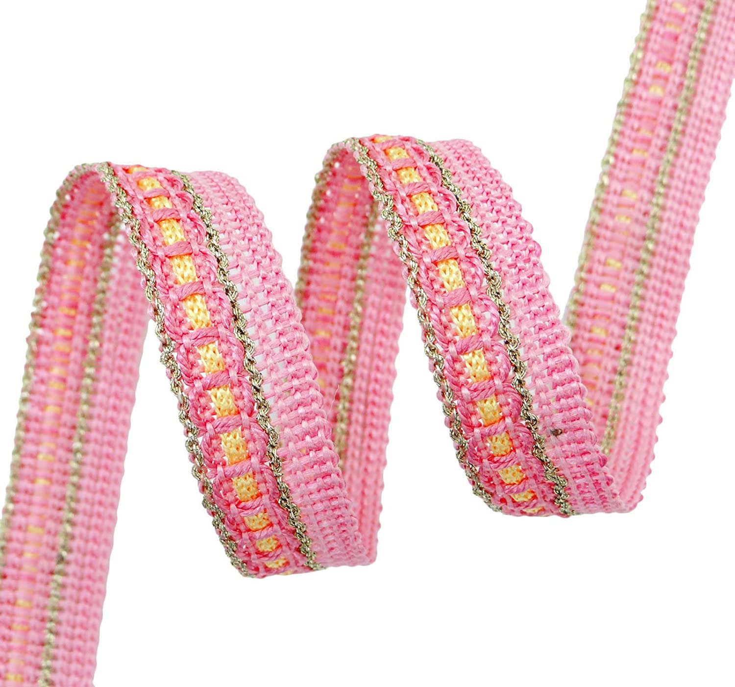 Metallic Braid Supply Edging Lace Trim Sewing Crafting 12.7 mm Wide By 18 Yards Knitwit