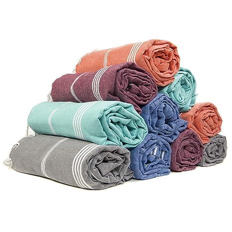 Amazon.com: Juego de 6 toallas de algodón turco XXL, toalla ...