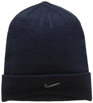 Nike Swoosh Gorra, Hombre, Azul (Obsidian) / Plata (Metalizado), Talla Única: Amazon.es: Deportes y aire libre